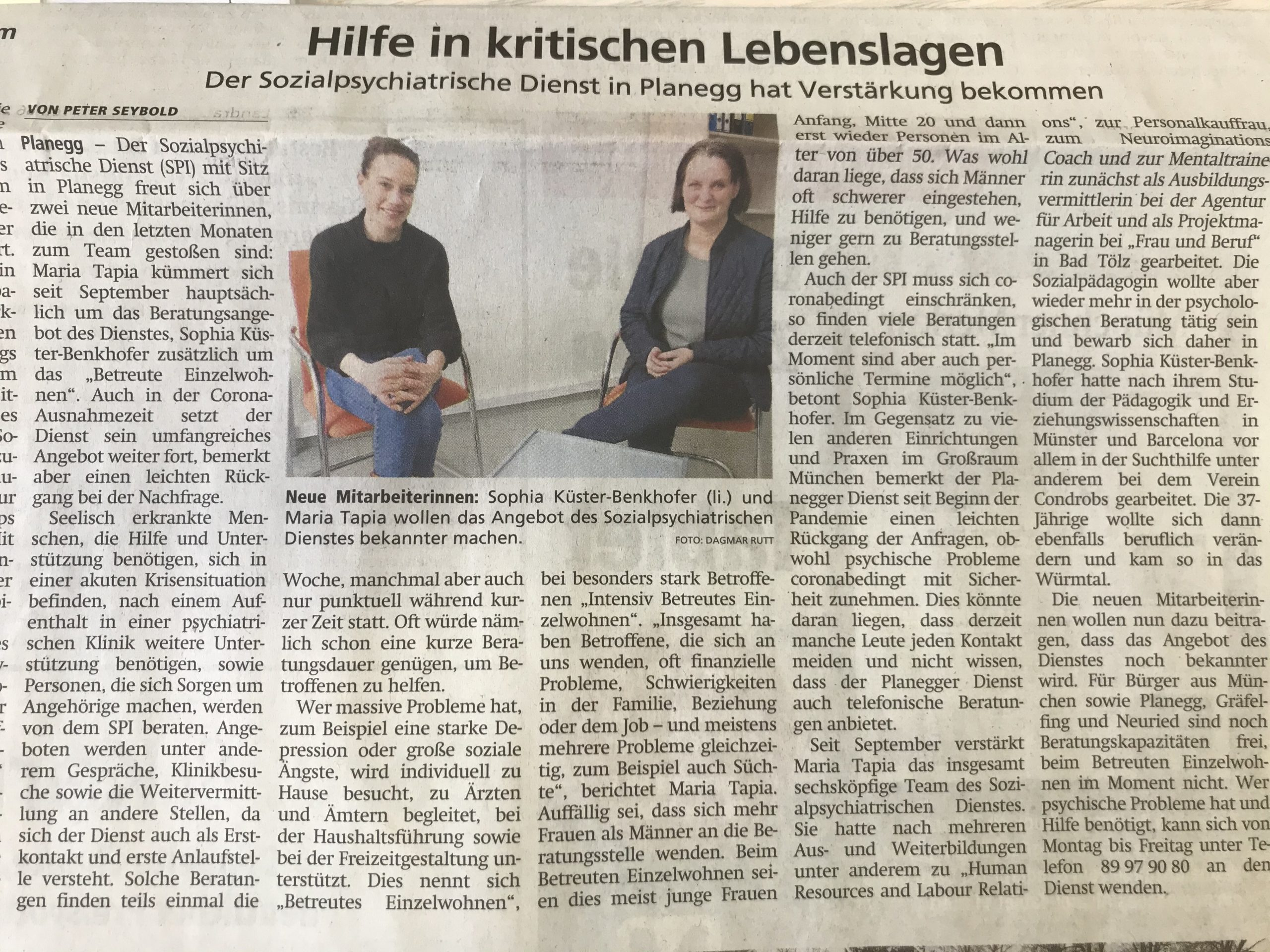 Zeitungsartikel Münchner Merkur